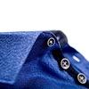 Kids kobalt blauw mouliné katoenen overhemd.