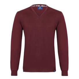 R2 Bordeaux extra fine wool  pullover.
