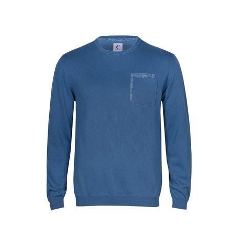 Blauw extra fine wool trui.