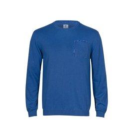 R2 Blauw extra fine wool trui.