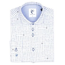 R2 Kids white football print cotton shirt.