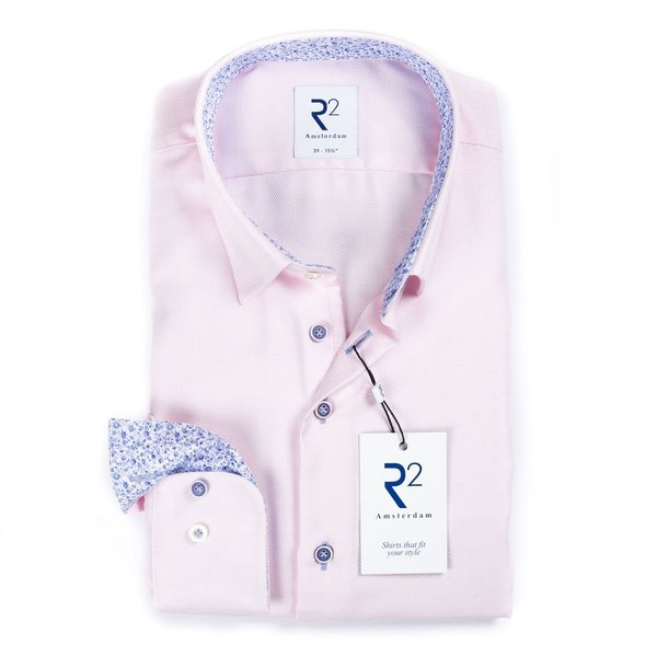 R2 Roze katoenen overhemd