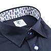 Dunkelblaues Baumwollhemd