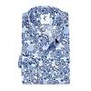 Wit grafische print katoenen overhemd met borstzak.