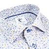 Wit fietsenprint katoenen overhemd.