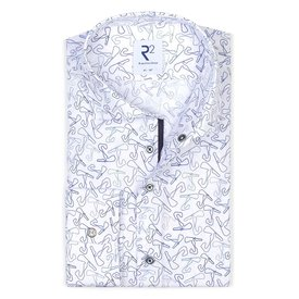 R2 White cotton shirt with race track Zandvoort.