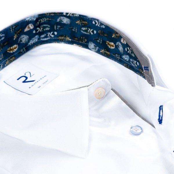 R2 Wit 2 PLY katoenen overhemd.