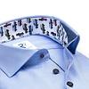 Hellblaues Herringbone 2 PLY Baumwollhemd.