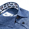 Blaues 2 PLY Organic Baumwollhemd.