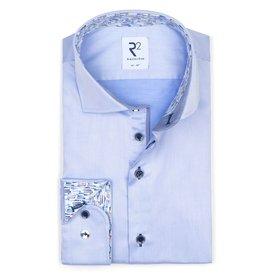 R2 Lichtblauw 2 PLY katoenen overhemd.