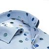 Blau Kreisenprint Baumwollhemd.
