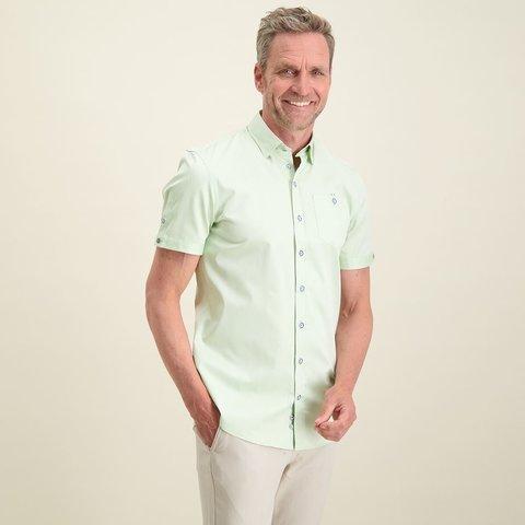 Short sleeves green 2 PLY cotton shirt.