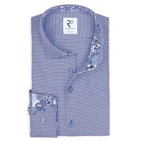 R2 Blue Pied the Poule cotton shirt.