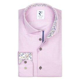 R2 Pink dobby cotton shirt.