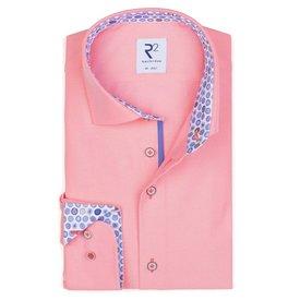 R2 Neon pink cotton shirt.