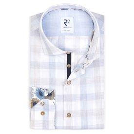 R2 Checked cotton shirt.