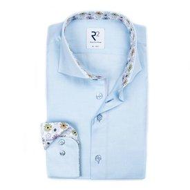R2 Lichtblauw oxford katoenen overhemd.