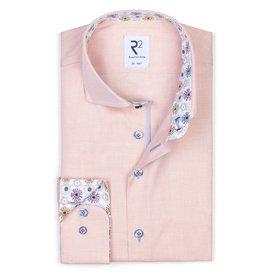 R2 Orange oxford cotton shirt.