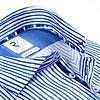Wit blauw gestreept 2 PLY organic cotton overhemd.