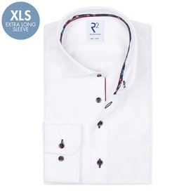 R2 Extra Long Sleeves. White 2 PLY cotton shirt
