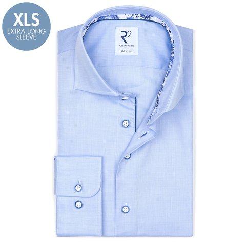 Extra Lange Mouwen. Lichtblauw oxford katoenen overhemd