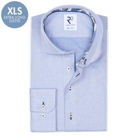R2 Extra Long Sleeves. Blue dobby cotton shirt