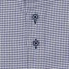 Extra lange Ärmel. Blaues Hahnentritt 2 PLY Baumwollhemd