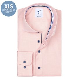 R2 Extra Long Sleeves. Orange oxford 2 PLY cotton shirt