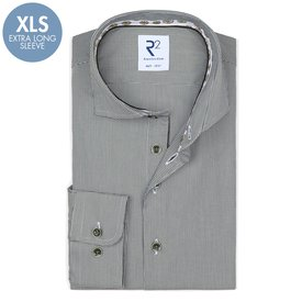 R2 Extra Long Sleeves. Dark green pied de poule 2 PLY cotton shirt