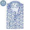 Extra Lange Mouwen. Wit bloemenprint katoenen overhemd