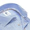 Extra Lange Mouwen. Lichtblauw gestreept oxford 2 PLY katoenen overhemd