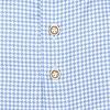 Extra Lange Mouwen. Lichtblauw pied de poule 2 PLY katoenen overhemd