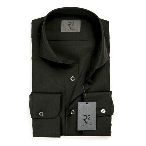 Schwarz 100% Wollhemd