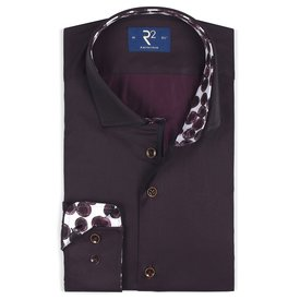 R2 Bordeaux cotton shirt.