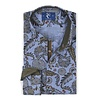 Blaues Blumenprint Baumwollhemd.