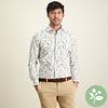 Wit grafische print organic cotton overhemd.