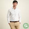 Meerkleurig stippenprint organic cotton overhemd.