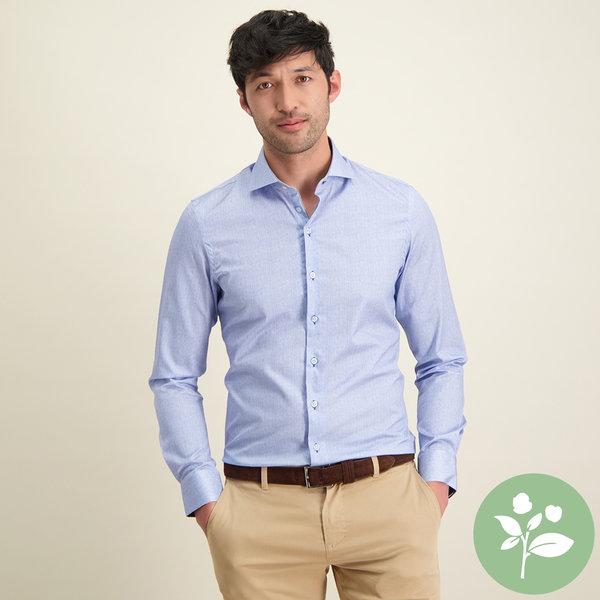 R2 Lichtblauw 2 PLY organic cotton overhemd.