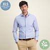 Extra Lange Mouwen. Lichtblauw 2 PLY organic cotton overhemd.