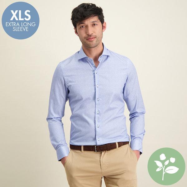 R2 Extra Lange Mouwen. Lichtblauw 2 PLY organic cotton overhemd.