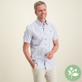 R2 Kurzärmeliges Shirt mit Fischprint aus Bio-Baumwolle.