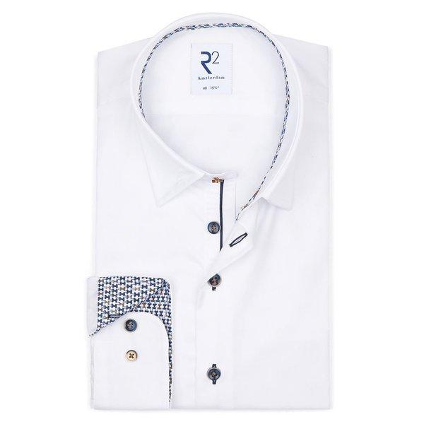 R2 Wit 2-PLY katoenen overhemd