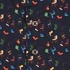 Zwart stoelenprint katoenen overhemd