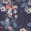Blau bloemprint herringbone organic Baumwolle Hemd