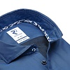 Kobaltblau 2-PLY Baumwollhemd.