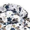 Wit bloemenprint katoen-stretch overhemd