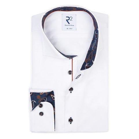 Wit 2-PLY katoenen overhemd