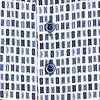 Wit bioscoop-kaartjes print katoen-stretch overhemd