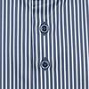 Blauw gestreept katoen satijn overhemd