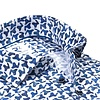 Wit stoelenprint dobby organic cotton stretch overhemd